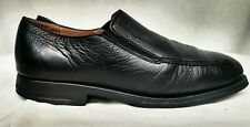 Mens Sandro Muscoloni Black Leather Moc Loafers 5302 Comfort Gel Size 10.5 D