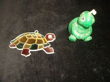 UNUSED VINTAGE RUSS CANDLE IN SHAPE OF TURTLE + HANGING SUN CATCHER LEADED