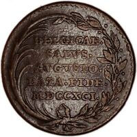AUSTRIAN NETHERLANDS coin/medal Inaguration 2 Liards 1791 king Leopold II
