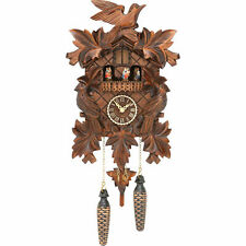 Original German Cuckoo Clock Quartz-movement Carved-Style 35cm by Trenkle Uhren