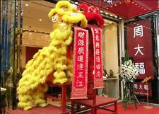 Lion Dance Mascot Costume Suits Natural Wool Southern Lion For Two Adults Gift