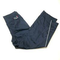 Vintage Tommy Hilfiger Windbreaker Track Pants Mens XL Navy Blue Mesh Lined