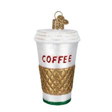 """Coffee-to-Go"" (32171)X Old World Christmas Glass Ornament w/OWC Box"