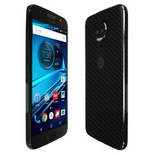 Skinomi Black Carbon Fiber Skin+Screen Protector for Motorola Moto G5s Plus