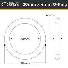 20x4 Nitril O-Ringe - 20mm Innendurchmesser X 4mm Kreuz Bereich (28mm mm)