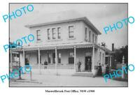 OLD 8x6 PHOTO MUSWELLBROOK POST OFFICE NSW c1900