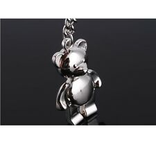 TEDDY BEAR  metal keyring keychain Bag Charm gift present - New