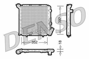 DENSO ENGINE COOLING RADIATOR FOR A RENAULT SUPER 5 HATCHBACK 1.7 64KW