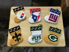 Handcrafted/Handmade Plastic Canvas NFL Stockings
