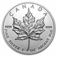 New 2012 Canadian Silver Maple Leaf 1oz Bullion Coin