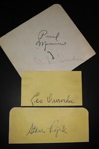 Vintage Late 40s Brooklyn Dodgers Signed Cuts (23) With Snider Durocher JSA Auth