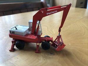 Gescha Germany poclain 90 excavator tires with crane construction vehicle 1:50
