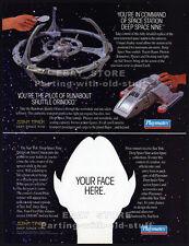 DEEP SPACE NINE__Original 1994 Print AD / Playmates toy promo__Space Station