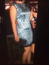 Gabby Skye Tunic Dress Black Lace over Green Sleeveless Scoop Back Women Size 4