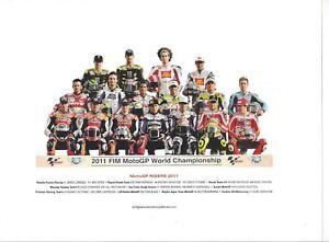 Poster Card 2011 FIM MotoGP Riders Nicky Hayden Simoncelli Honda Ducati Yamaha