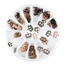 Crown Metal 3D Nail Art Decoration Slice Black Stickers Decal Foil Wheel