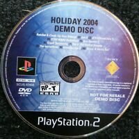 Holiday 2004 Demo Disc Not for Resale NFR Sony Ps2 Playstation 2 Tested Rare