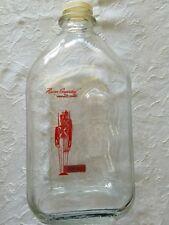 "Vintage Thatcher Glass Red Soldier ""Flavor Guarded"" Half Gallon  Milk Bottle"