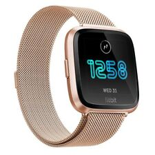 For Fitbit Versa Metal Milanese Magnetic Loop Strap Stainless Steel Wrist Band