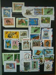 SMALL SELECTION OF POSTALLY USED BURKINA FASO KILOWARE.