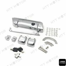 Chrome Tour Pak Pack Trunk Latches W/ Key for Harley Touring Glide FL 2014 15 17