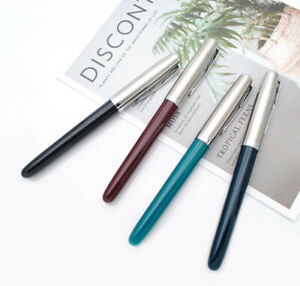 Jinhao 86 Resin Classic Fountain Pen Silver Cap Extra Fine Nib 0.38mm Ink Pen