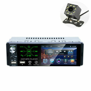 4in 1Din Touch Screen Bluetooth Car Stereo Radio MP5 Player Kits w/8LED Camera