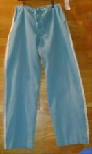 Turquoise scrub pants size small drawstring only Uniform Advantage sporty stripe