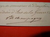 GENERAL Nicolas de Nompère de Champagny AUTOGRAPHE RESTAURATION EMPIRE 1830
