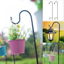 Set of 4 Shepherd Crook Hook Bird Feeder Flower Pot Plant Basket lanterns Hanger