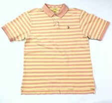 Duck Head Shirt Mens Size Large Horizontal Striped Polo Crest Logo