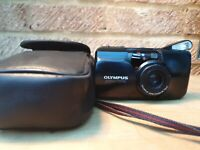 OLYMPUS MJU ZOOM 35mm COMPACT FILM CAMERA WITH Olympus 35-70mm LENS and case