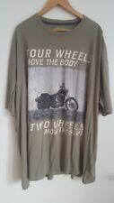 Redfield T Shirt 6xl Beige mit Motorrad Motiv