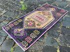 Kitchen rug, Small rug, Doormats, Vintage rug, Handmade rug   1,3 x 2,7 ft
