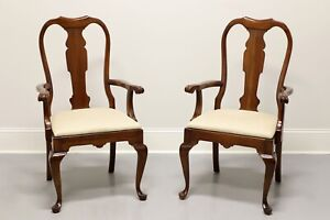 PENNSYLVANIA HOUSE Queen Anne Cherry Dining Armchairs - Pair