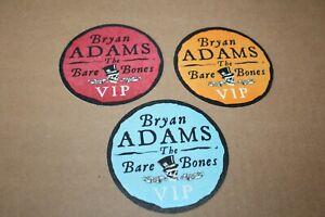Bryan Adams  - 3x Backstage Pass # 3  - FREE POSTAGE
