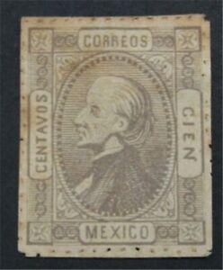 nystamps Mexico Stamp # 104 Mint OG H $180       S17x748