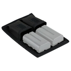 JJC BC-P2 Battery Pouch Holds 2 Camera Batteries or AA / AAA + 2 SD/XQD/CF cards