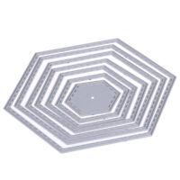 Hexagon spiral Die Cuts Metal Cutting Dies In Scrapbooking Embossing R1BO