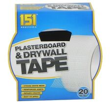 151 DRYWALL PLASTERBOARD TAPE 48mm x20m STRONG MESH REPAIRS CRACKS JOINTS WALLS