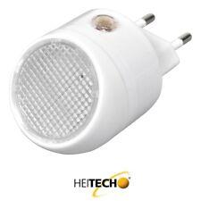 Heitech LED-Nachtlicht mit Dämmerungs-Sensor Licht Steckdose Notlicht Lampe