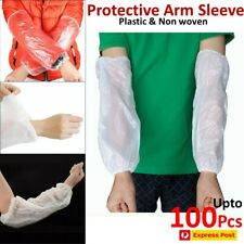 Disposable Plastic Protective Arm Sleeve Covers 10/100Pcs For Medical lab Work