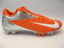 Nike Vapor Talon Elite Low Football Cleats 14 Orange Flash White Chrome $145 NEW