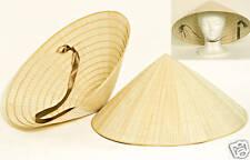 6 Vietnamese Asian Oriental Straw Palm Bamboo Leaf Farmer Garden Rice HATS