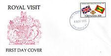 GRENADA 4 NOVEMBER 1985 ROYAL VISIT OFFICIAL FIRST DAY COVER FDI