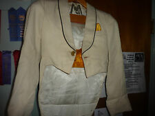 Used High School White Band Jackets w/gold cumberbunt