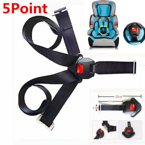 1x 5Points Harness Car Seat Safety Belt Seat Belts For Children Baby Child Kids