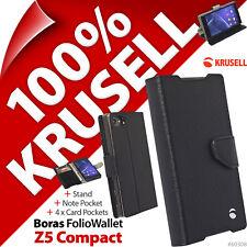 Krusell Boras Folio Etui Stand 4 X Carte Étui Portefeuille Pour sony Xperia Z5