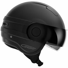 NEW ROOF COOPER JET MOTORCYCLE MOTORBIKE HELMET Matt Black Open Face Sun Visor