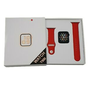 T500 Smart Watch Series 5 - 44mm -IWO 12 - Bluetooth - Android /iOS IPhone -Red